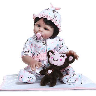 """Realistic Dolls Full Girl Newborn Bath 18"""""""