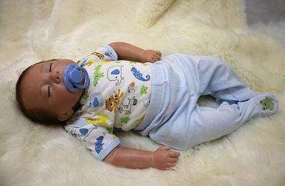 Reborn Baby Boy Doll 18'' Lifelike Vinyl Silicone Gift Handmade