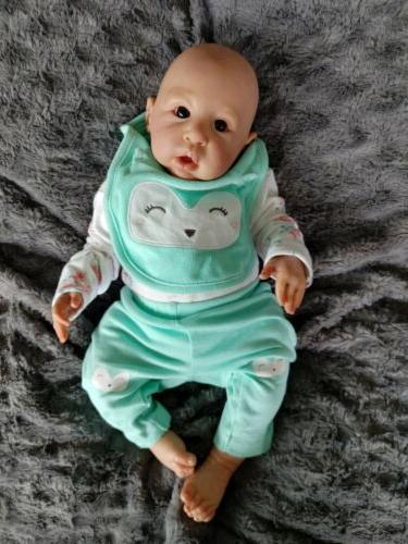 reborn baby doll awake newborn girl anna