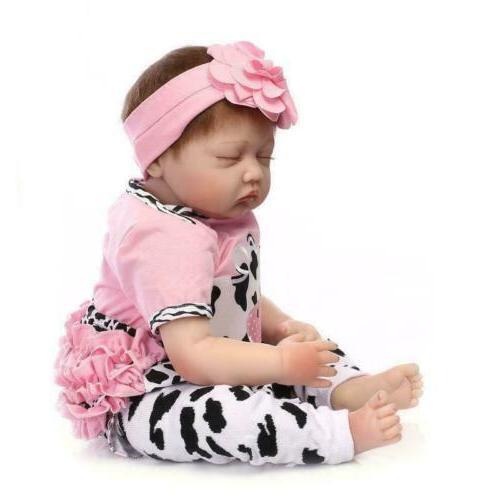 """Reborn Baby Dolls 22""""Handmade Newborn Vinyl Silicone Toddler"""