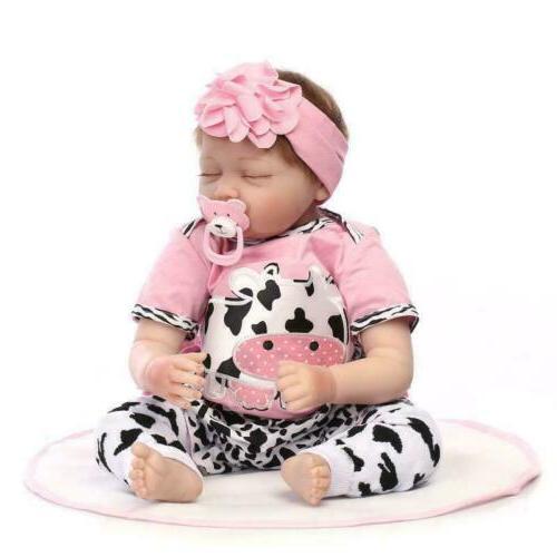 Reborn Baby Dolls 22 inch Real Life Handmade Newborn Vinyl S