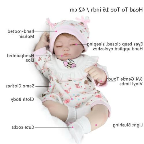 "16"" Handmade Newborn Lifelike Silicone Sleeping Girl"