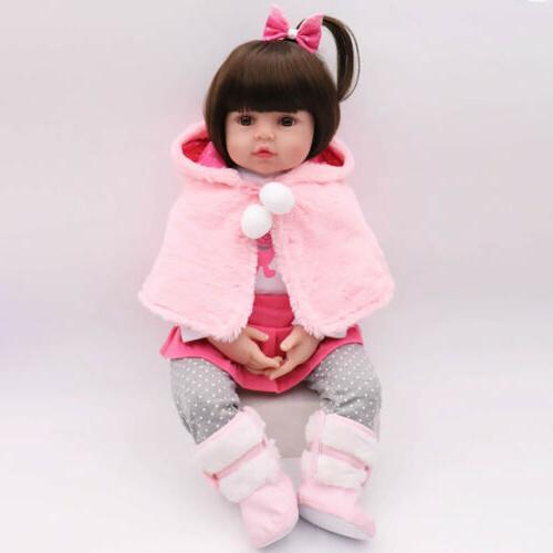 "Reborn Baby Girl 16"" Newborn Handmade Xmas Gifts Toy"