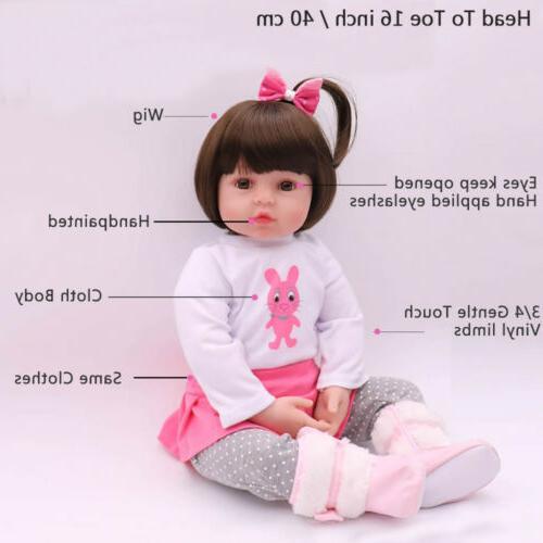 "Reborn 16"" Vinyl Handmade Gifts Doll Toy"