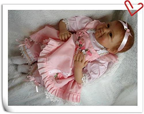"NPK Baby Girl Look Real Vinyl 22"" Realistic Doll Ages"