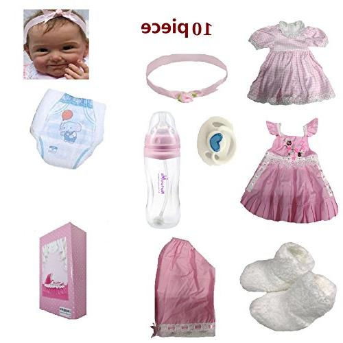 NPK Baby Doll Girl Look Real Realistic Pink Ages 3+