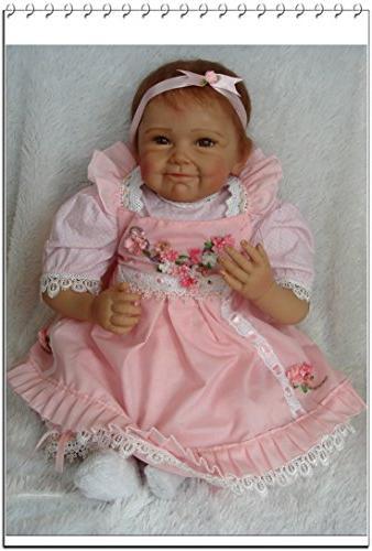 NPK Girl Real Vinyl Body Realistic Pink Doll Set Ages