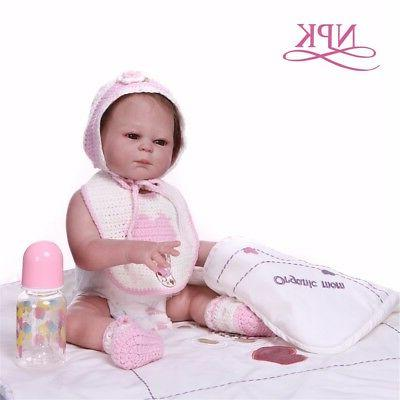 Reborn Baby 20'' Full Silicone Touch Real Bath Toy
