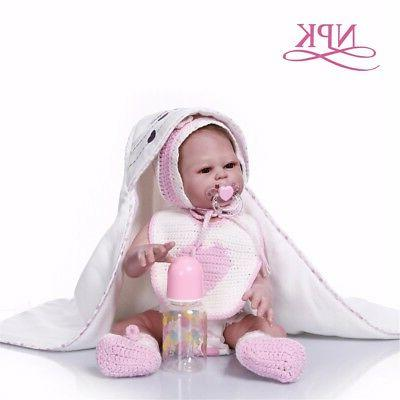 Reborn Girl Baby 20'' Vinyl Silicone Bath Toy
