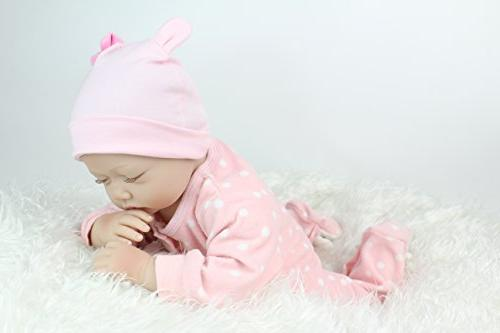 """PENSON CO. 22"""" Reborn Baby Doll Realistic Weighted Baby 3+, Soft Silicone Vinyl"""