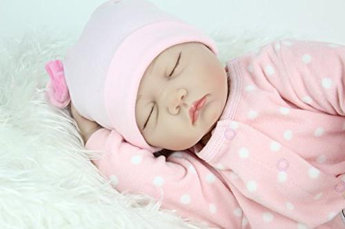 """PENSON 22"""" Newborn Baby Doll Lifelike Weighted for Ages 3+, Silicone Vinyl"""
