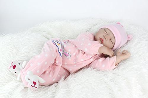 """PENSON RDRBB029700 & CO. 22"""" Baby Doll Lifelike Weighted Baby 3+, Soft"""