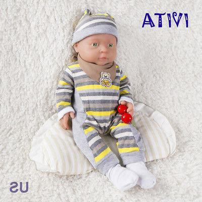 IVITA 16-inch Full Silicone Reborn Baby BOY Dolls 2KG Realis