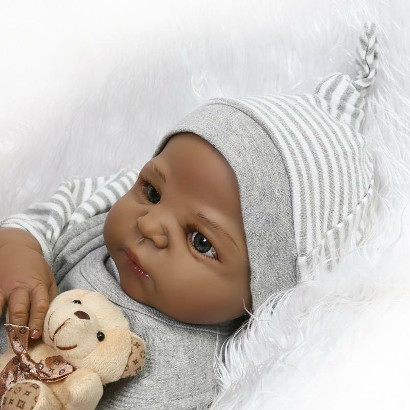 Anatomically Correct African American Reborn Boy Doll Full B