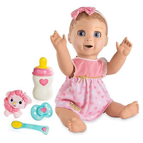 spinmaster luvabella blonde hair responsive baby doll realis