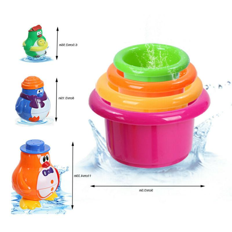 Stack Cup Animal Spray Toy Pool Funny Water Set