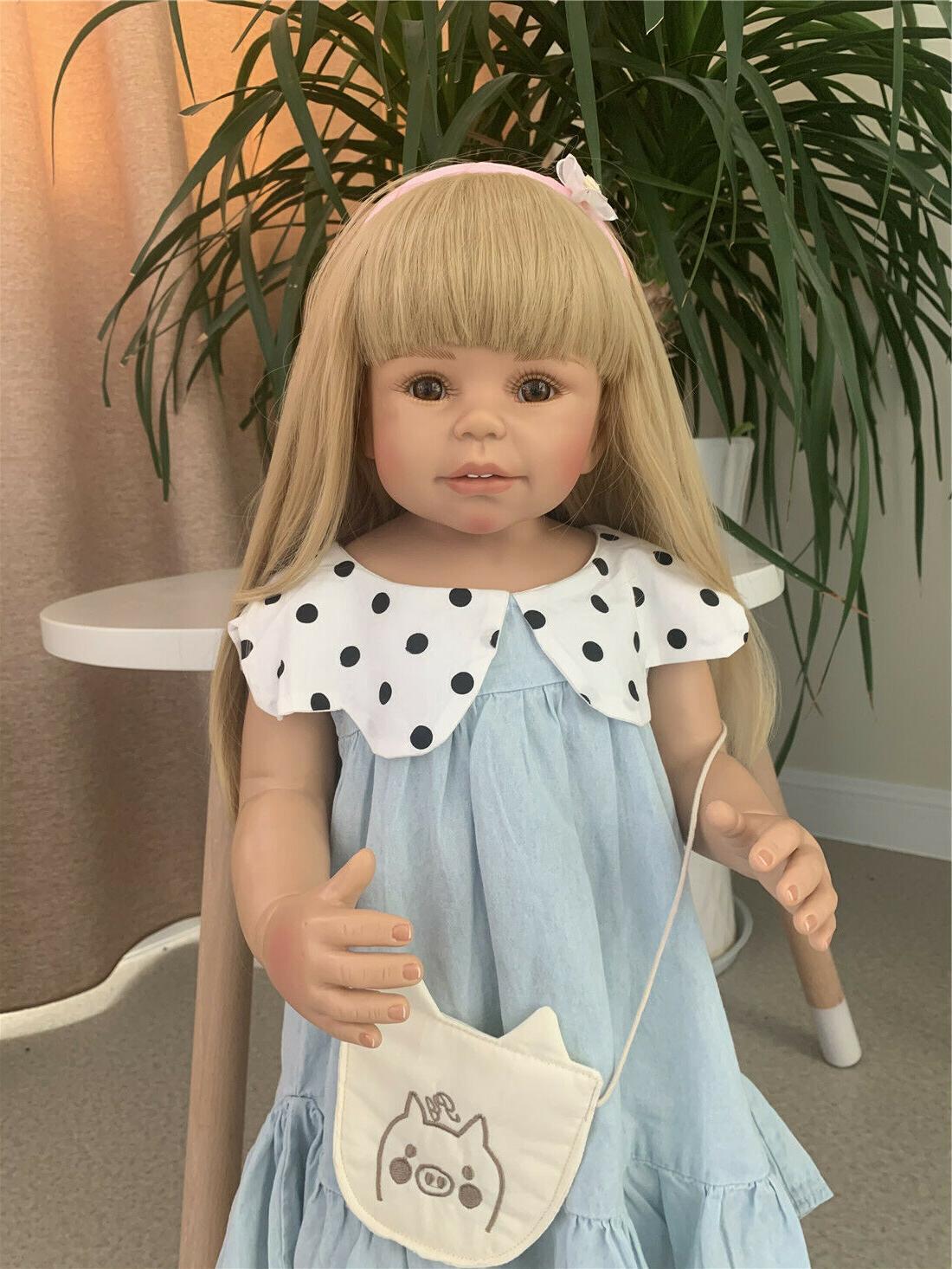 28 inch Reborn Toddler Girls Full Body Vinyl Toys Reborn Bab