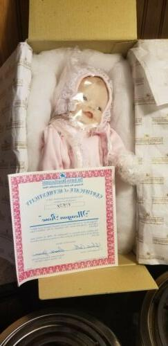 The Ashton-Drake Galleries Porcelain Baby Doll Meagan Rose w