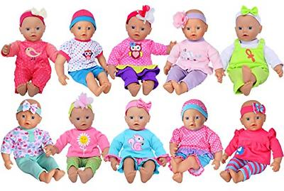 ebuddy Clothes Outfits Accessories for 10-inch Baby