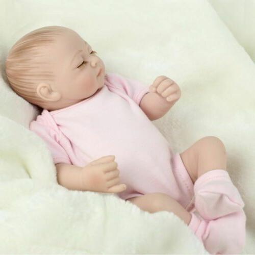 "10"" Twins Baby Lifelike Newborn Doll Body Silicone Reborn Gifts"