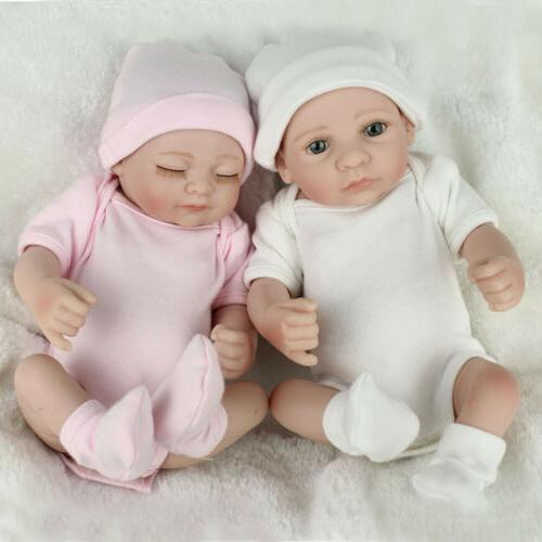 Twins Lifelike Newborn Babies Body Vinyl Gifts