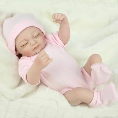 "10"" Baby Dolls Lifelike Doll Full Body Vinyl Silicone Gifts"