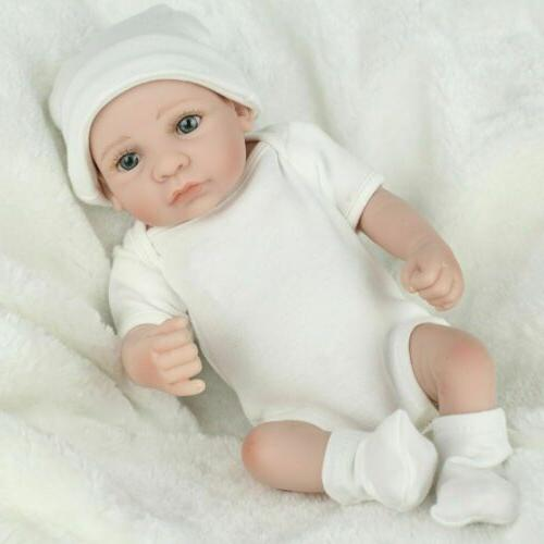 Twins Dolls Lifelike Full Vinyl Silicone Reborn Doll