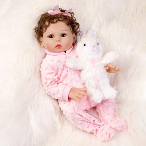 Waterproof Reborn Dolls Silicone Vinyl Newborn Doll