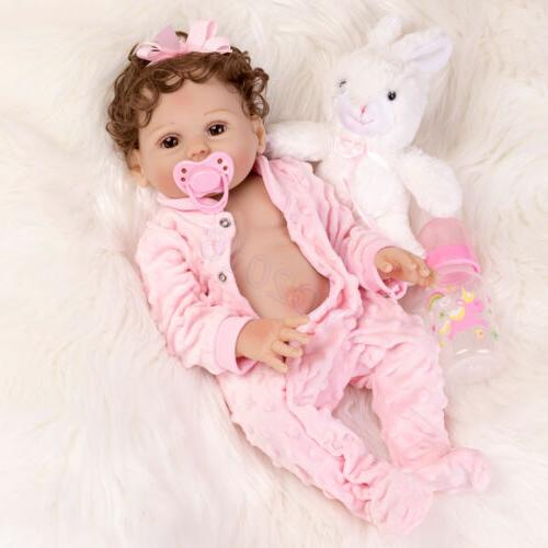 "Waterproof 18"" Dolls Full Body Soft Silicone Girl Doll"