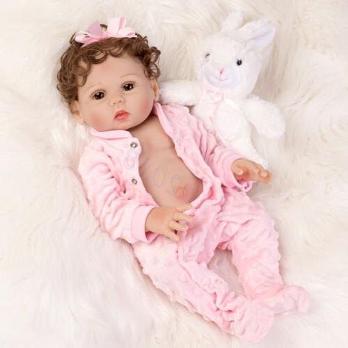 "Waterproof 18"" Dolls Body Silicone Vinyl Newborn Doll"