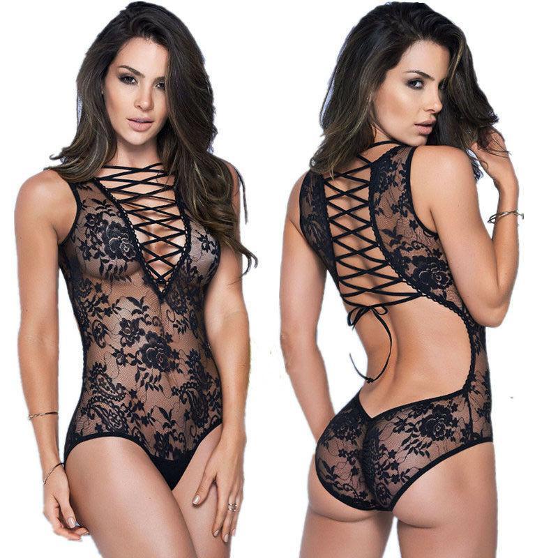 Women Lingerie Lace Dress G-string