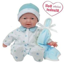 JC Toys, La Baby 11-inch Washable Soft Body Boy Baby Doll wi