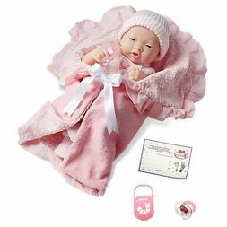 La Newborn Deluxe Layette Doll Gift Set Asian