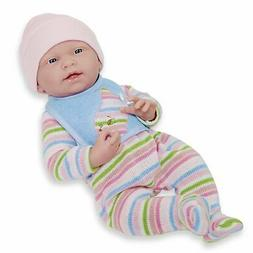 JC Toys, La Newborn All Vinyl Real Girl 15in Baby Doll in St