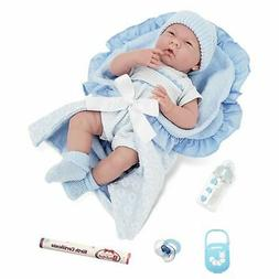 JC Toys, La Newborn Realistic Soft Body Baby Doll 15.5in - B