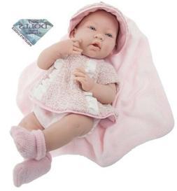 "JC Toys La Newborn Vinyl Anatomically Correct Real Girl 15"""