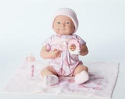 "JC Toys La Newborn 15.5"" Soft Body PINK Boutique Baby Doll R"