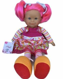 Corolle Les Dollies Trendies Bright Pink Hair Rag Doll