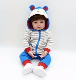 "Lifelike 24"" Reborn Baby Dolls Toddler Silicone Boy Girl Han"