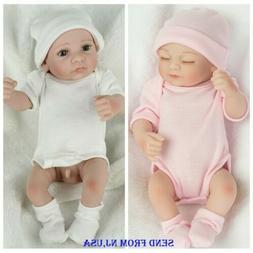 Lifelike Baby Dolls Full Body Vinyl Silicone Reborns Girl+Bo