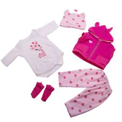 Lifelike Doll Clothes Sets Suit for 16-18 inch Reborn Baby D