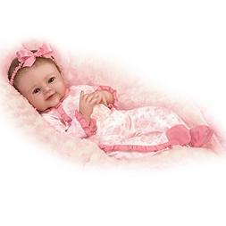 Lifelike Baby Doll Poseable and Weighted with Hand-Rooted Ha