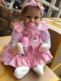 Pinky Lifelike 18Inch 45cm Reborn Baby Dolls Soft Doll Silic