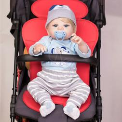 "Lifelike Full Body Soft Vinyl Silicone 22"" Reborn Baby Doll"