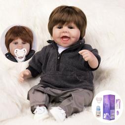 Lifelike Handmade Reborn Dolls Baby Boy Doll Silicone Soft V