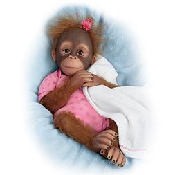 The Ashton-Drake Galleries Lifelike Poseable Baby Monkey Dol