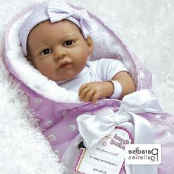 Paradise Galleries Reborn Baby Girl Doll in Silicone Vinyl,