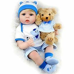 Aori Lifelike Realistic Reborn Baby Boy Doll 22 Inch Handmad
