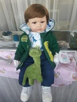 Lifelike Reborn Baby Boy Dolls Soft Silicone Toddler Dolls N