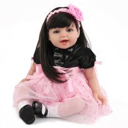 """Lifelike Reborn Baby Doll Girl  22"""" Soft Vinyl Real Life New"""